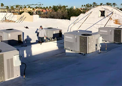 Commercial HVAC Services - Rooftop AC Installation Service Repair